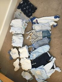 Box of baby boy clothes - 0-3 months