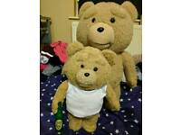 Full Size Talking Ted Plus Bear and Talking Ted 2 with beer bottle 18+