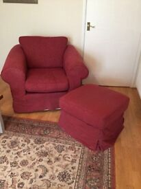 FREE! Matching chair and footstool