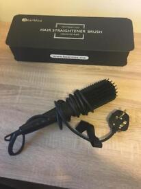 Hair straightener brush ceramic