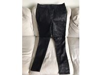 NEXT black patterned skinny trouser/jean/legging