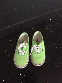 Bright green vans
