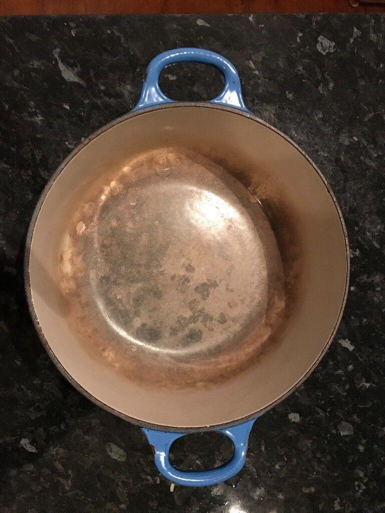 Le Creuset Cast Iron Graded Blue 20cm Casserole Dishes x2