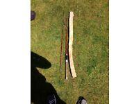 Antique fishing rod, cane.