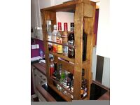 Upcycled shabby chic drinks cabinet wall mounted