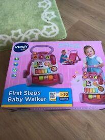 V tech first steps musical baby walker