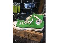 Green hitop converse