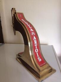 Vintage solid brass Stella Artois pump