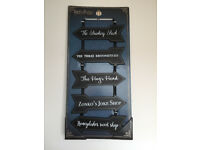 Harry Potter arrow sign, by Primark, black, Wizarding World