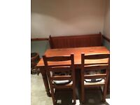 Pitch pine dining table
