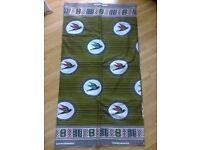 Bird Motif Batik Wax Fabric (Green) - per metre