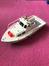 Playmobil Coastguard boat