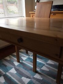 SOLD STC. Solid Pine Farmhouse Style Table. Much loved and cared for over the years.In VGC.