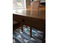 Solid Pine Farmhouse Style Table. Much loved and cared for over the years.In VGC.