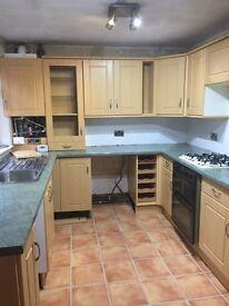 Kitchen Units, Worktops and Sink
