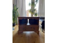 Solid wooden TV cabinet and stand