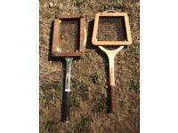 Vintage wooden tennis racquets/rackets