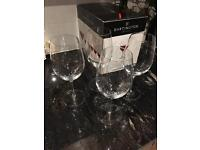 Set of 4 Large Red Wine Glasses Darlington Crystal