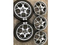 "17"" 4 stud alloy wheels 4x100pcd"