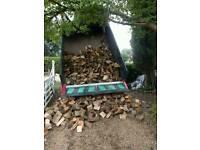 Seasoned Logs Hardwood Tipper load Bulk Bags