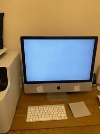 Apple iMac 24 inch with trackpad and apple key board