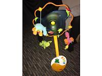 Baby infant kids Rotary mobile crib bed toy movement music box