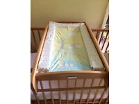 Mammas and Pappas cot and cot-top changer