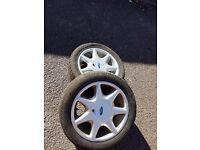 "Ford cosworth 7spoke 15"" wheels Full set"