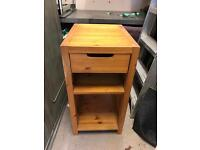 One draw cabinet