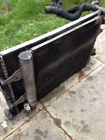 Vw polo radiator and fan unit