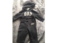 Gap baby hoodie & track suit bottoms set 6-12months