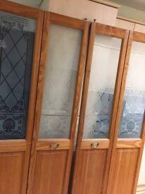 Wood/glass interior folding doors
