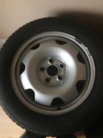VW steel wheels and winter tyres