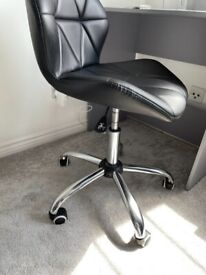 Small stylish leather home office chair