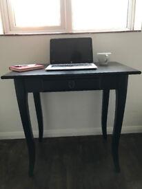 IKEA Leksvik desk, black/brown