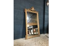 19th Century Antique French Large Mirror