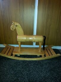 Solid wood hand made in Holland Rocking Horse
