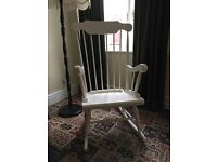 Beautiful White Rocking Chair