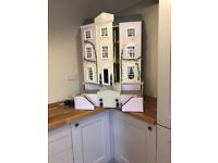 Three storey 1/12 scale dolls house with lighting