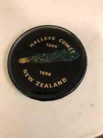 Halley's Comet 1985-1986 New Zealand plate