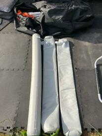 Inflatable veranda tubes for camptech awning