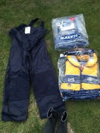 Sailing clothes bundle . Coat/lifejackets