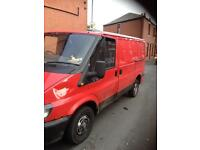 Ford transit passingers side door in red