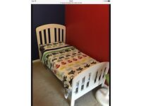 Mamas & Papas White Fern Cot Bed