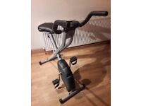 Black and Grey Confidence Fitness Space Saving X Bike With Digital Display & Adjustable seat