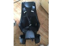 BoBike Maxi Exclusive rear-mounted child bike seat for 9-22kg, brand new, black frame and cushion
