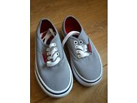 Vans grey and red. Brand New. Child size 10