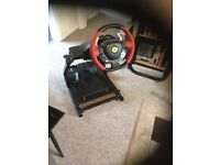 Xbox steering wheel and frame