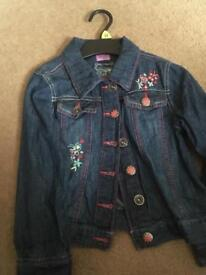 Girls jean jacket age 6-7