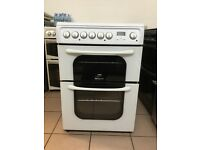 Hotpoint creda electric cooker 60cm ceramic double oven 3 months warranty !!!!!!!
